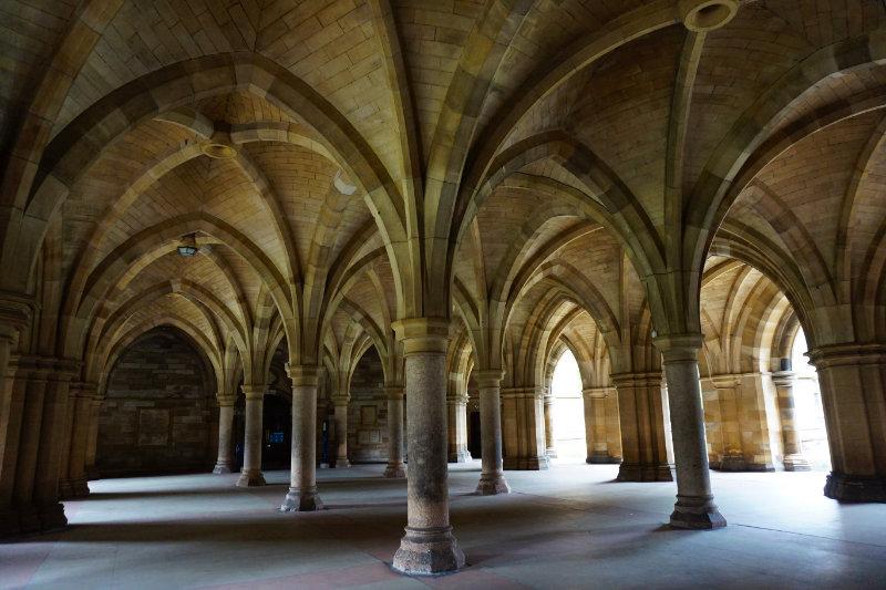 University Of Glasgow cloisters, Glasgow, Scotland