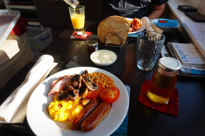 Breakfast at Bridge House B&B, Isle Of Lewis, Scotland