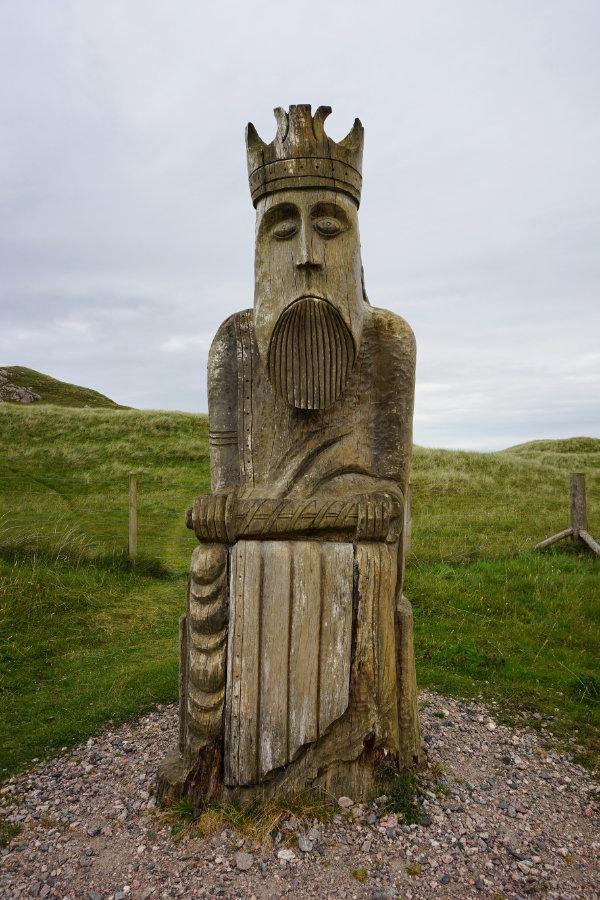 Lewis chessman, Ardroil Beach, Uig, Isle Of Lewis, Scotland