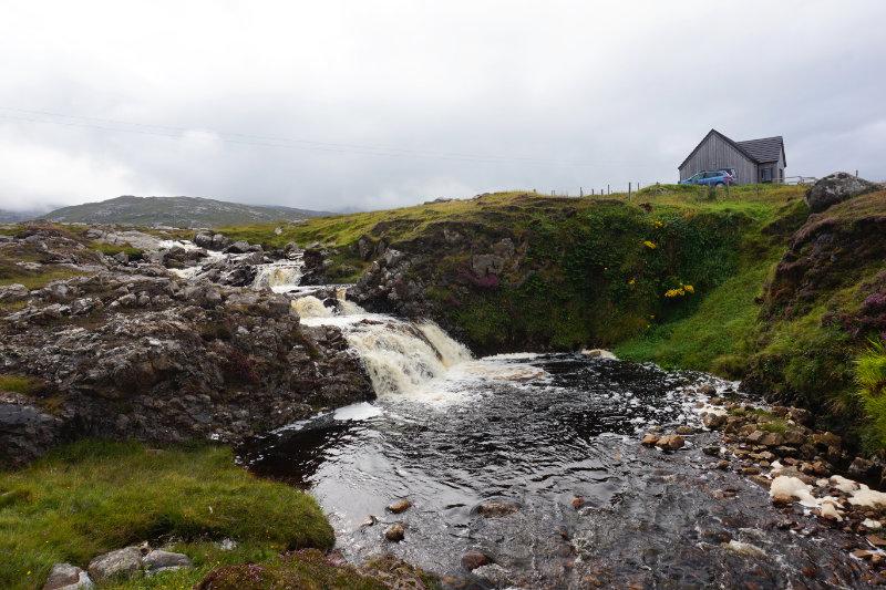 Waterfall by Bridge House B&B, Breanish, Isle Of Lewis, Scotland